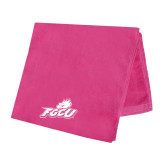 Pink Beach Towel-Primary Athletic Mark