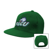 Kelly Green Flat Bill Snapback Hat-Primary Athletic Mark