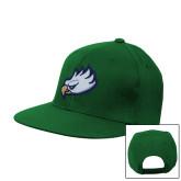 Kelly Green Flat Bill Snapback Hat-Eagle Head