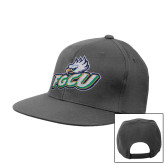 Charcoal Flat Bill Snapback Hat-Primary Athletic Mark