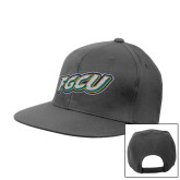 Charcoal Flat Bill Snapback Hat-FGCU
