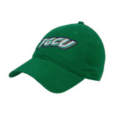 Kelly Green Twill Unstructured Low Profile Hat-FGCU