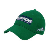 Kelly Green Twill Unstructured Low Profile Hat-ASUN Champions 2017 Mens Basketball
