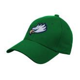 Kelly Green Heavyweight Twill Pro Style Hat-Eagle Head