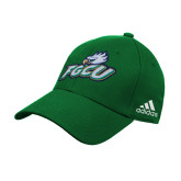 Adidas Kelly Green Structured Adjustable Hat-Primary Athletic Mark