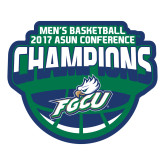 Large Magnet-ASUN Champions 2017 Mens Basketball, 12 inches wide