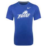 NIKE Royal Dri Fit Legend Short Sleeve T-