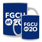 Full Color White Mug 15oz-FGCU at 20 Stacked