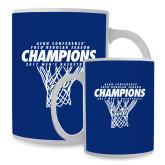Full Color White Mug 15oz-Regular Season Champions 2017 Mens Basketball Net Design
