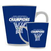 12oz Ceramic Latte Mug-Regular Season Champions 2017 Mens Basketball Net Design