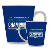 Full Color Latte Mug 12oz-Asun Conference 2017 Womens Basketball Champions