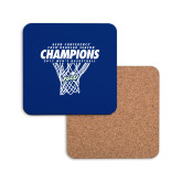 Hardboard Coaster w/Cork Backing-Regular Season Champions 2017 Mens Basketball Net Design