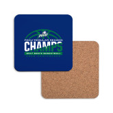 Hardboard Coaster w/Cork Backing-Regular Season Champions 2017 Mens Basketball Half Ball Design