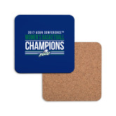 Hardboard Coaster w/Cork Backing-Asun Conference 2017 Womens Basketball Champions