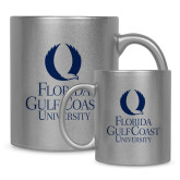 Full Color Silver Metallic Mug 11oz-University Mark Stacked