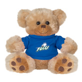 Plush Big Paw 8 1/2 inch Brown Bear w/Royal Shirt-Primary Athletic Mark