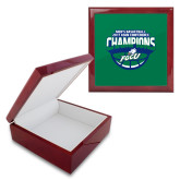 Red Mahogany Accessory Box With 6 x 6 Tile-ASUN Champions 2017 Mens Basketball