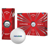 Callaway Chrome Soft Golf Balls 12/pkg-FGCU at 20 Flat
