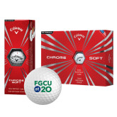 Callaway Chrome Soft Golf Balls 12/pkg-FGCU at 20 Stacked