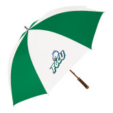 64 Inch Kelly Green/White Umbrella-Primary Athletic Mark