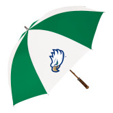 64 Inch Kelly Green/White Umbrella-Eagle Head