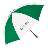 64 Inch Kelly Green/White Umbrella-FGCU20 Plus Logo