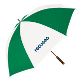 64 Inch Kelly Green/White Umbrella-FGCU at 20 Flat