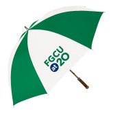 64 Inch Kelly Green/White Umbrella-FGCU at 20 Stacked