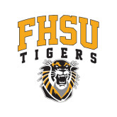 Medium Decal-Arched FHSU Tigers w/ Tiger, 8in Tall