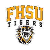 Large Decal-Arched FHSU Tigers w/ Tiger, 12in Tall