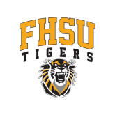 Small Decal-Arched FHSU Tigers w/ Tiger, 6in Tall