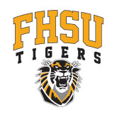 Extra Large Decal-Arched FHSU Tigers w/ Tiger, 18in Tall