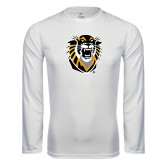 Performance White Longsleeve Shirt-Victor E. Tiger