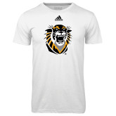 Adidas Climalite White Ultimate Performance Tee-Victor E. Tiger