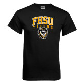 Black T Shirt-Arched FHSU Tigers w/ Tiger