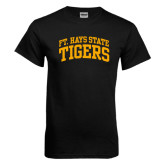 Black T Shirt-Arched Ft. Hays State Tigers