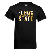 Black T Shirt-Ft. Hays State University Stacked