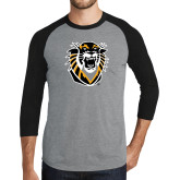 Grey/Black Tri Blend Baseball Raglan-Victor E. Tiger