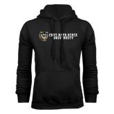 Black Fleece Hoodie-Fort Hays State University Flat w/ Tiger