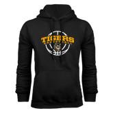 Black Fleece Hoodie-Arched Basketball Design
