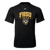 Under Armour Black Tech Tee-Arched FHSU Tigers w/ Tiger