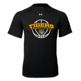 Under Armour Black Tech Tee-Arched Basketball Design