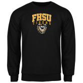 Black Fleece Crew-Arched FHSU Tigers w/ Tiger