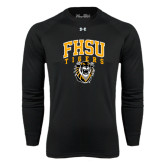 Under Armour Black Long Sleeve Tech Tee-Arched FHSU Tigers w/ Tiger