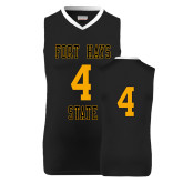 Replica Black Adult Basketball Jersey-#4