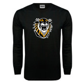 Black Long Sleeve TShirt-Victor E. Tiger Distressed