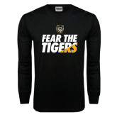 Black Long Sleeve TShirt-Fear The Tigers