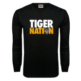 Black Long Sleeve TShirt-Tiger Nation