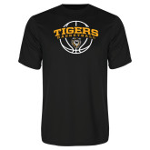 Performance Black Tee-Arched Basketball Design