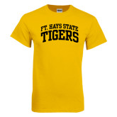 Gold T Shirt-Arched Ft. Hays State Tigers